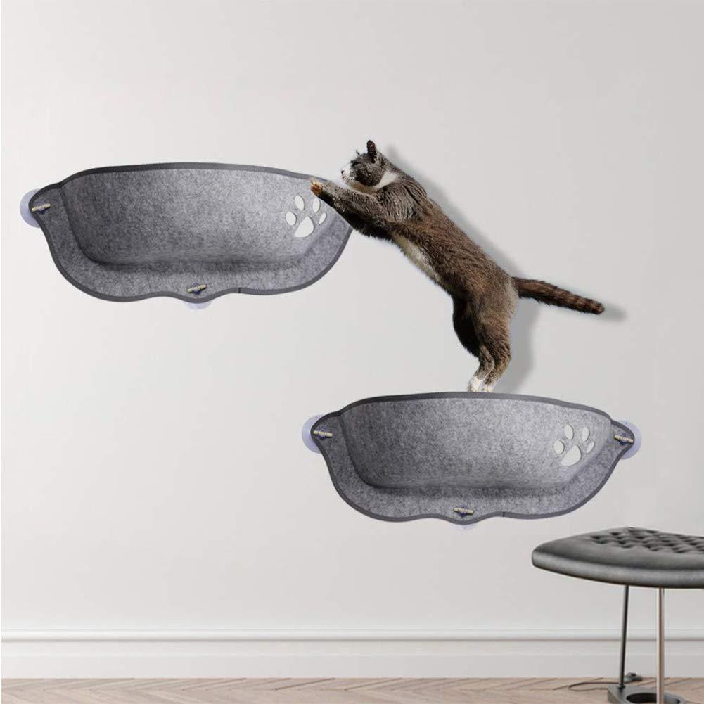 winemana Cat Hammock Sunny Seat, cat Window Perch, Kitty Ledge - Mount on Any Window or Wall, 2 Pack (27''x 10.6'' x 9'') by winemana