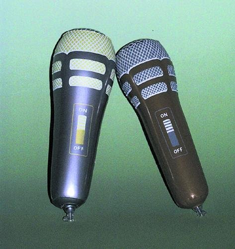 Music Treasures Co. Gold and Silver Inflatable Mic Pack of 3