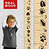 "Growth Chart Art | Hanging Wooden Height Growth Chart to Measure Baby, Child, Grandchild - Animal Tracks Ruler with Brown Paw Prints and Numerals - Wall Decoration for Girls and Boys - 58""x5.75"""