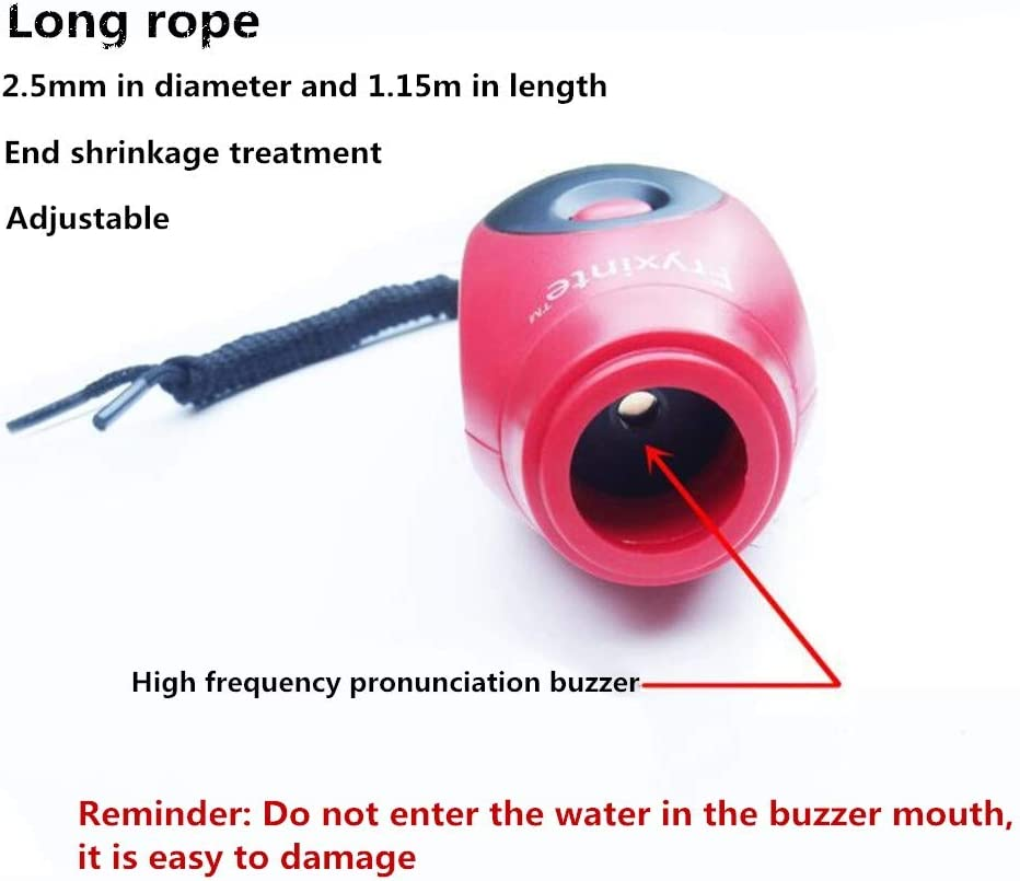 Ttzz Electronic Whistle 3 Tone Hand-Held Lanyard Alarm for Outdoor Sports Basketball Coaches Hand Squeeze Black