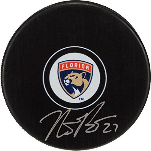 Nick Bjugstad Florida Panthers Autographed Hockey Puck - Fanatics Authentic Certified - Autographed NHL Pucks
