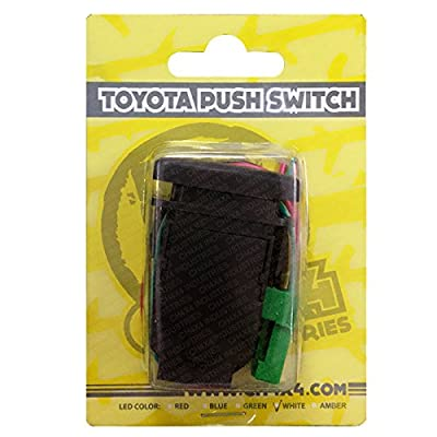 CH4x4 Push Switch for Toyota FJ Cruiser - Rear Roof Lights Symbol - Green Led: Automotive