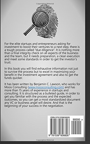 Due diligence for startups a step by step guide benjamin c due diligence for startups a step by step guide benjamin c lawson 9781539606826 amazon books platinumwayz