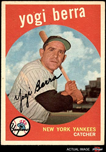 1959 Topps # 180 Yogi Berra New York Yankees (Baseball Card) Dean's Cards 4 - VG/EX - Memorabilia Yogi Berra