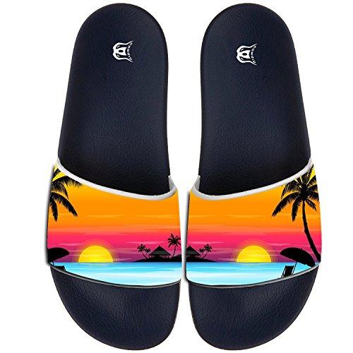 45d1c1ea682b5d 85%OFF COWDIY Sunset Slipper Slip On Flip Flop Slide Athletic Sandal Shower  Beach Shoe