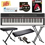 Best Keyboard With Stand Covers - Yamaha P-125 Digital Piano - Black Bundle Review