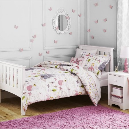 Better Homes and Gardens Kids Fairy Princess Comforter Set (Twin Size) - Garden Quilt Set