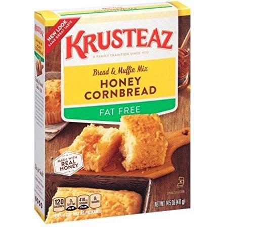 - Krusteaz, Fat Free, Honey Cornbread Mix, 14.5oz Box (Pack of 4)