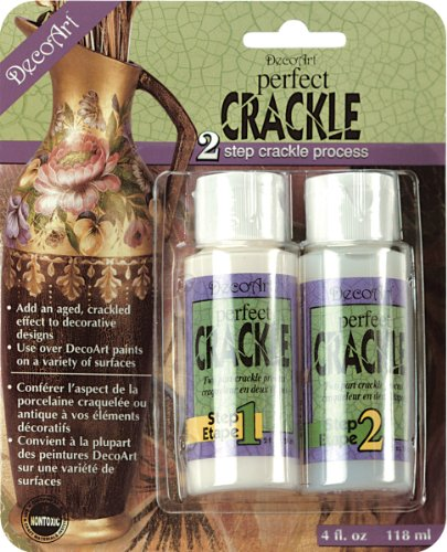 Clear Crackle - DecoArt DAPK88 Perfect Crackle, 2-Ounce, Perfect Crackle, Carded