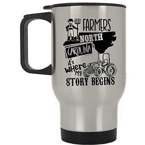 Where My Story Begins Travel Mug, Farmers North Carolina Mug (Travel Mug - Silver)