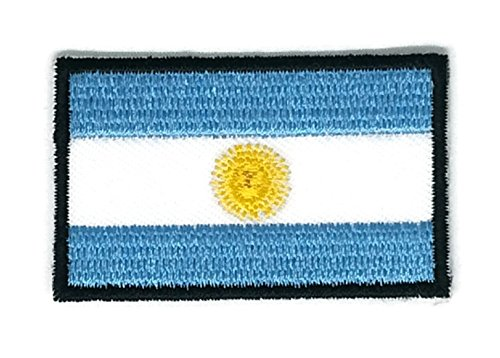 2 x 1.3 inches Argentina Flag Patch Sew Iron on Embroidered Badge Symbol - Argentina Shop Online