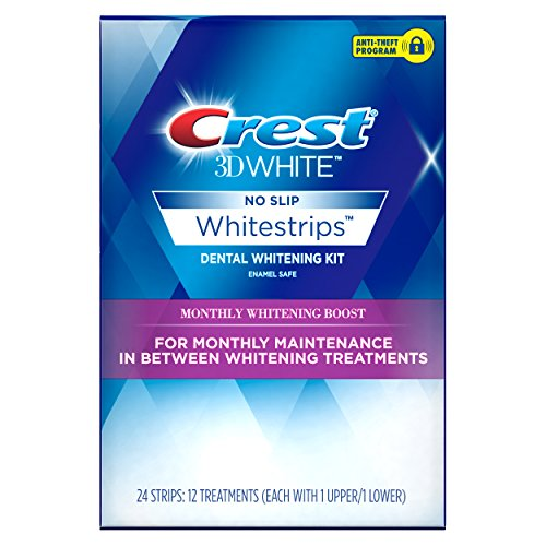 Crest 3D White Monthly Whitening Boost Dental Kit with 12 Tr