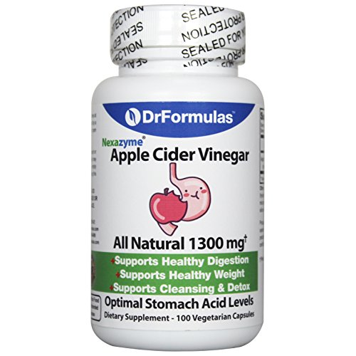 DrFormulas Apple Cider Vinegar Capsules for Weight Loss & Healthy Digestion, Raw Organic Pills, 100 Vegetarian Capsule Supplement