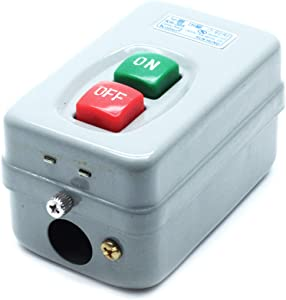 Mecion AC 380V 20A ON/Off 3 Phase Push Button Switch Mechanical Equipment Control Box KH-305