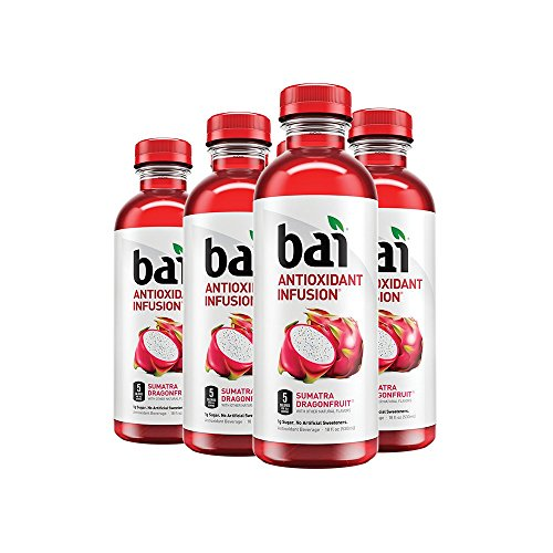 Bai Sumatra Dragonfruit, Antioxidant Infused, Flavored Water Drink, 18 Fluid Ounce Bottles, 6 count by bai