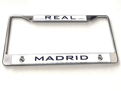 Amazon.com: Real Madrid Chrome License Plate Frame ...