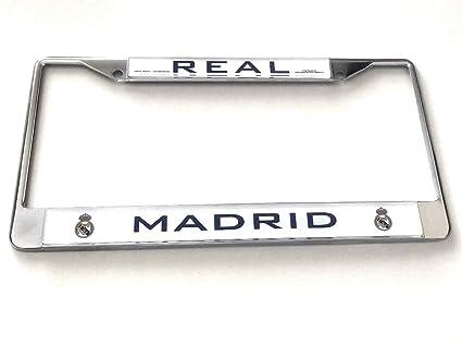 Amazon.com: Real Madrid Chrome License Plate Frame ...