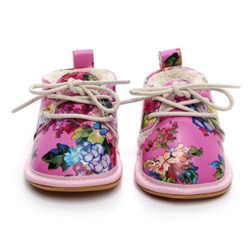 Covermason Winter Neugeborene Baby Weiche Sohle Schuhe Krippenschuhe Prewalker Warm Stiefel Babyschuhe Hot Pink B