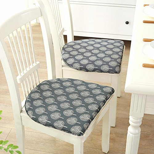 Linen Chair Cushions Anti-slip Seat Cushion Decorative Chair Pads for Dinning Room Home Office U-shape by Cozyhouse