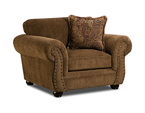 United Furniture Simmons Upholstery Outback Chair, Chocolate
