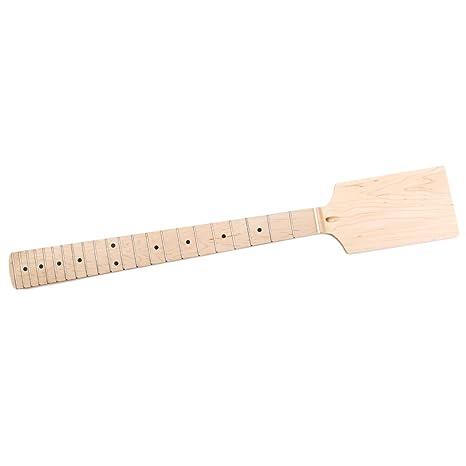 monkeyjack cabezal Hélices para guitarra eléctrica mástil de arce 22 trastes diapasón sin terminar