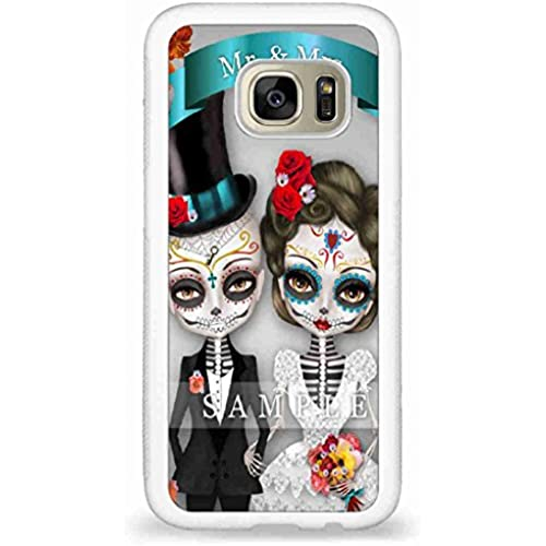Customized Sugar Skull Wedding illustration back phone cases for Samsung Galaxy S7 Sales