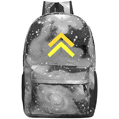 Laptop 01v - XKSJSB Corporal - Military Insignia Galaxy Laptop Backpack, Star Water Resistant College Students Travel Computer Notebooks Backpack for Men Women Gray