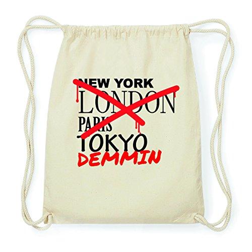 JOllify DEMMIN Hipster Turnbeutel Tasche Rucksack aus Baumwolle - Farbe: natur Design: Grafitti
