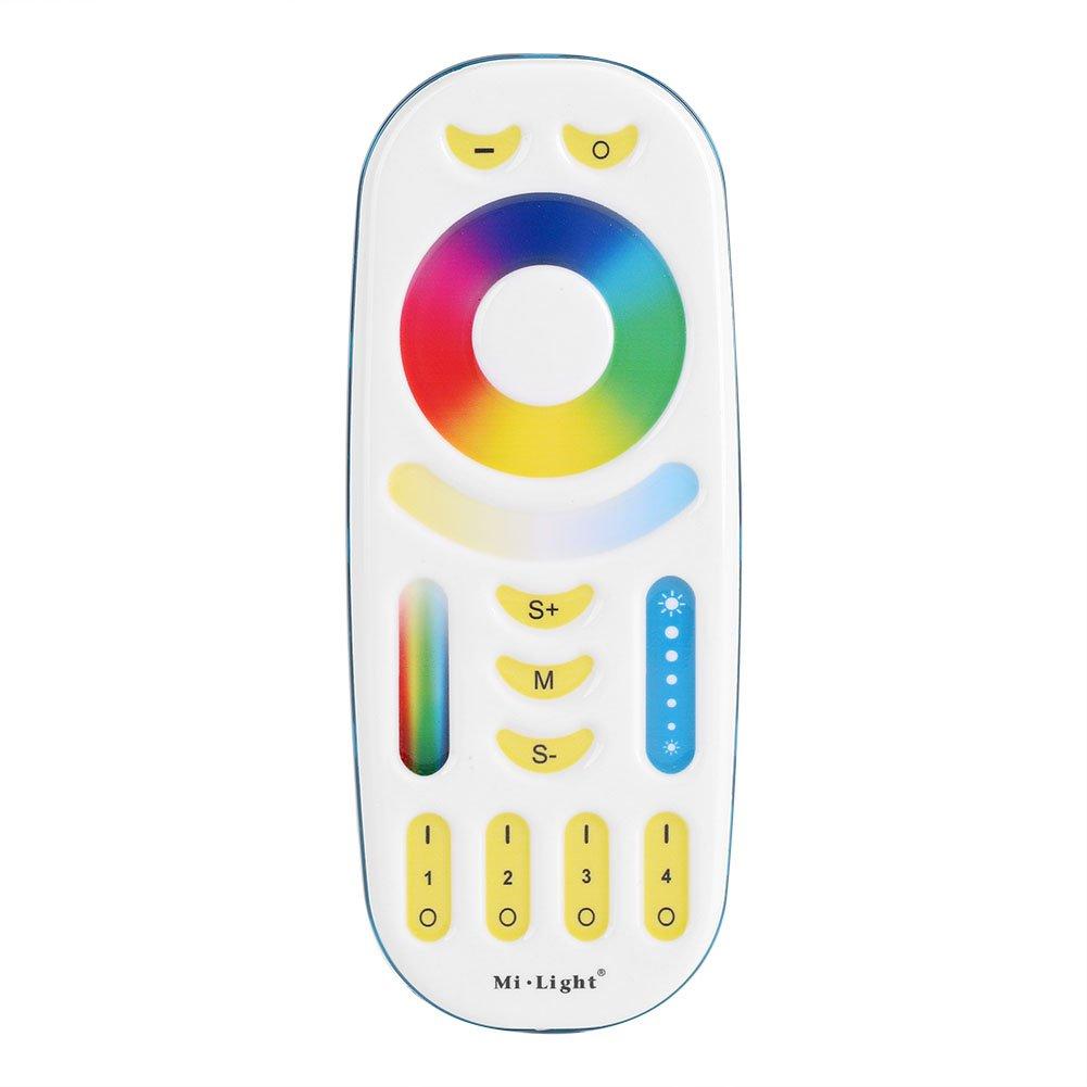 Zerodis Milight 2.4GHz Wireless 4-Zone LED Strip Remote Controller RGB+CCT Compatible with 5W GU10 And 9W  2700k ~6500k Spotlight FUT092