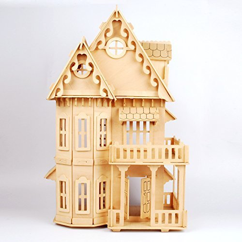 17 Wooden Dream Dollhouse 6 Rooms DIY Kits Miniature Doll House Great for Gift by - Mini Haunted House