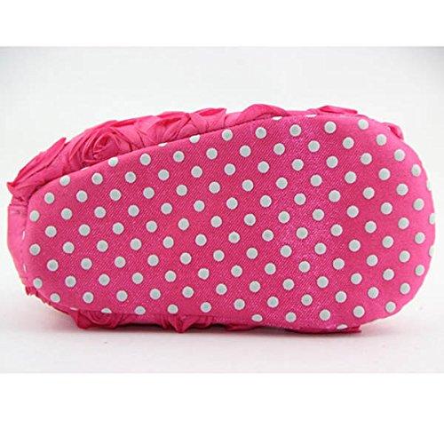 Niedlich Neugeborene Säugling Mädchen Baby Rosen Stil Weich Prinzessin Blumen Krippe Schuhe Pink 12cm