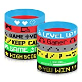 TUPARKA Video Game Silicone Wristbands Game Party Supplies for Birthday Party Baby Shower Party Favors, 6 Styles