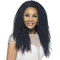 Vivica A Fox Hair Collection FHW-MEENA New Futura Synthetic Fiber Express Half Wig, FS1B/30, 11.3 Ounce by Vivica A. Fox
