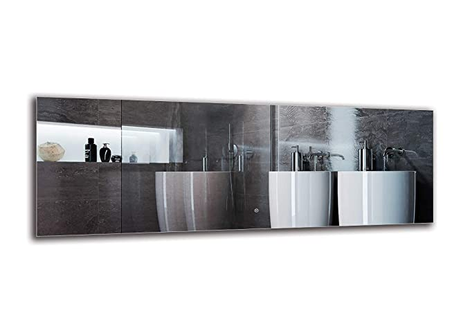 Interruttore tattile Specchio per Bagno Specchio a Muro Bianco Caldo 3000K Specchio LED Deluxe ARTTOR M1CD-12-40x40 Dimensioni dello Specchio 40x40 cm Specchio con Illuminazione