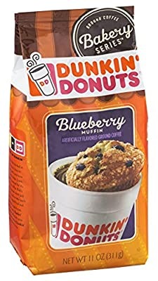 Dunkin Donuts Ground Coffee. (Pack of 2) (Blueberry Muffin)