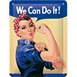 Nostalgic-Art 26120 USA - We can do it, Blechschild 15x20 cm
