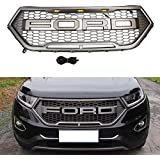 Vakabva Ford Edge Grill Raptor Style Grey Grille With Amber Led Lights Packaged Grille For