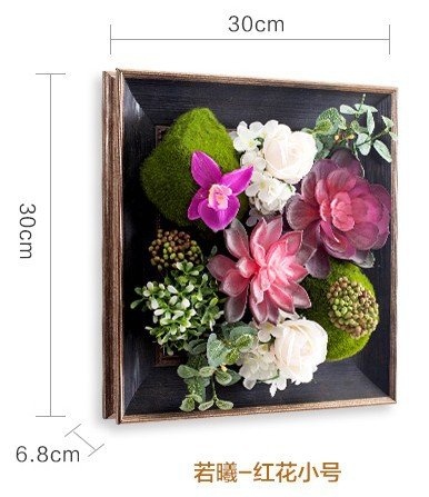JY$ZB European creative simulation plant wall American restaurant shop coffee black frame flower 7pcs