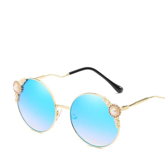 Amazon.com: Gafas de sol polarizadas redondas con marco de ...