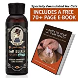 Mister Ben's Most Effective CAT Ear Cleanser Ear Elixir w/Aloe for Cats – This cat Ear Cleaner Provides Fast Relief from a cat Ear Infection, itching, Odors, Bacteria, Mites, Fungus & Yeast