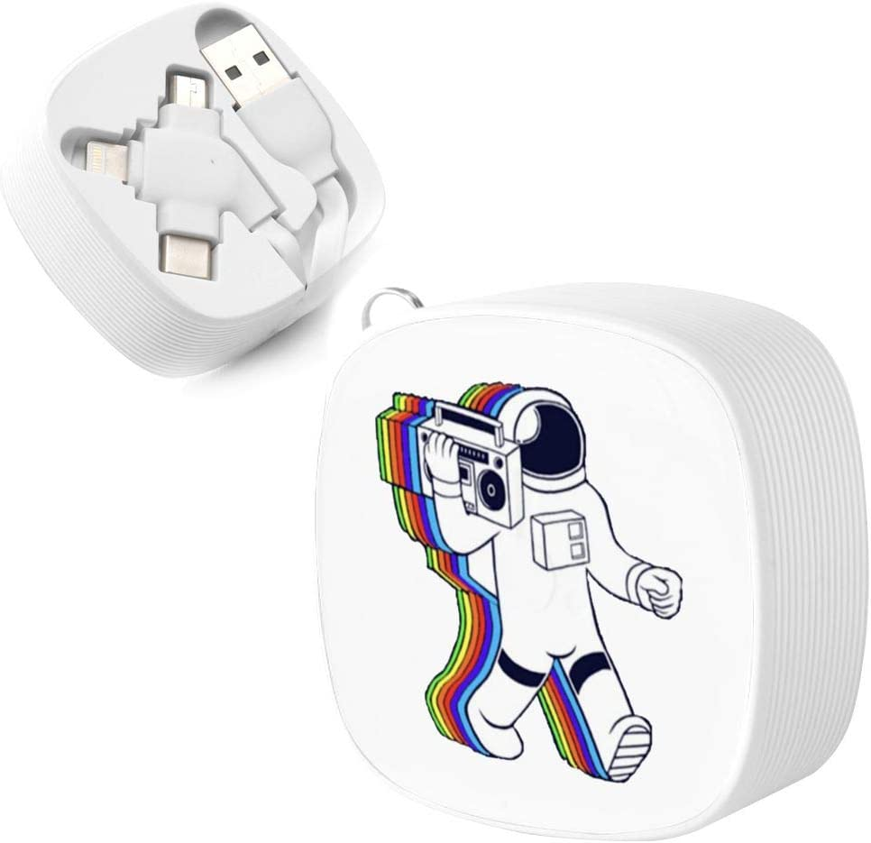Rainbow Astronaut Suitable for Any Mobile Phone Three in One Data Line
