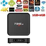 Smart TV Box, Amzchen Amlogic Stream T95M Android TV Box 2G/8G 2G/8G Media Players 2.4G WiFi Amlogic S905W Android 7.1 Quad Core H.265 4K TV BOX