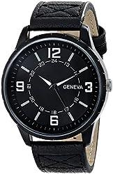 Geneva Men's 2393A-GEN Watch with Black Band