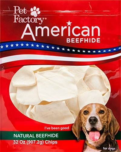 - Pet Factory American Beefhide Chews 38340 Rawhide Natural Flavor Chips for Dogs. American Beefhide is a Great Natural Source for Protein, Assists in Dental Health. Jumbo Value Pack 2 Pounds of Chips