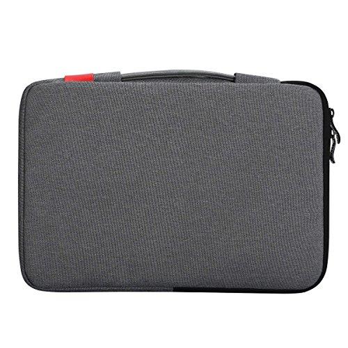 iCozzier 11.6-12.5 Inch Handle Strap Laptop Sleeve Case Bag Protective Bag for Macbook Air/Macbook Pro / Pro Retina Sleeve - Dark Gray Photo #4