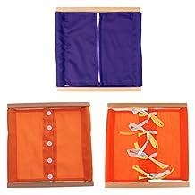 MonkeyJack 3Pcs Montessori Educational Early Learning Dressing Box Kids Daily Life Gift