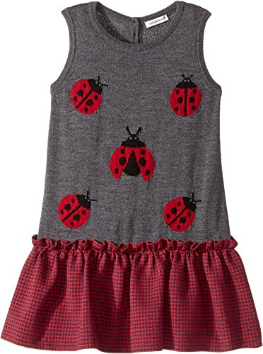 Dolce & Gabbana Kids Baby Girl's Back to School Lady Bug Dress (Toddler/Little Kids) Grey Dress by Dolce & Gabbana