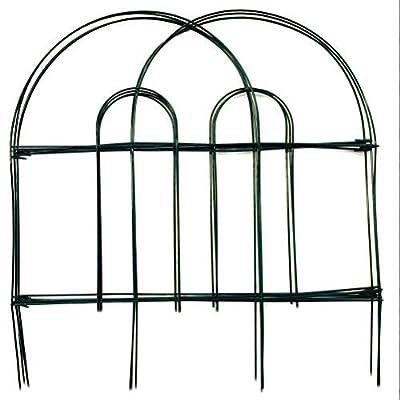 Amagabeli 18-Inch x 50-Foot Dark Green Folding Fence Wire Garden Fence Lawn Bordering Fences Garden Border Fence Garden Fence Panels Garden Border Fencing