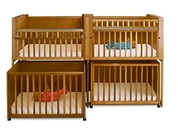 Stackable Space Saving Cribs (C4 Cinnamon)