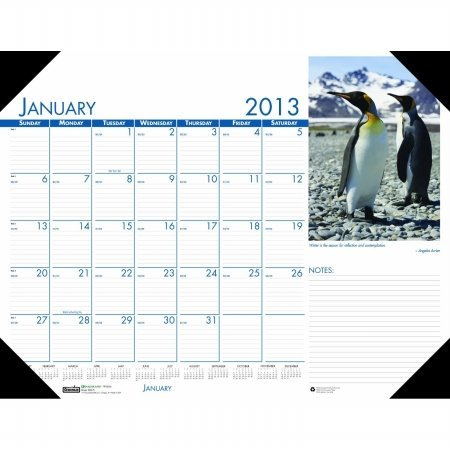 Wildlife Desk Pad Calendar - House of Doolittle Earthscapes Wildlife Desk Pad Calendar 12 Months January 2013 to December 2013, 22 x 17 Inches, Recycled (HOD172)
